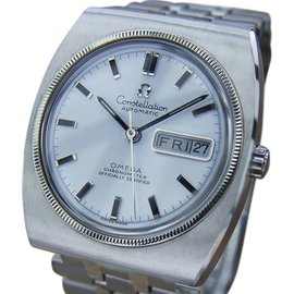 Omega Constellation Stainless Steel with White Dial Vintage 36mm Mens Watch