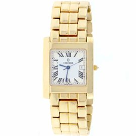 Concord Square 28-57-651 14K Yellow Gold & Silver Roman Dial 26mm Unisex Watch