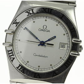 Omega Constellation Date Silver Dial Stainless Steel Quartz 32 mm Mens Watch