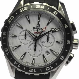 Omega Seamaster 231.13.44.52.04.001 Stainless Steel / Leather with White Dial 44mm Mens Watch