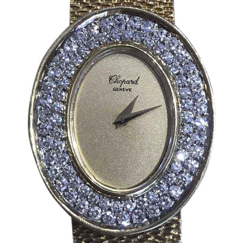 "Image of ""Chopard 18K Yellow Gold & Diamond Vintage Womens Watch"""
