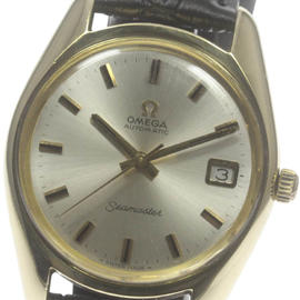 Omega Seamaster Stainless Steel and Gold Plated Date Automatic 35.5 mm Vintage Mens Watch