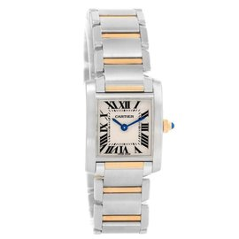 Cartier Tank Francaise W51007Q4 Stainless Steel & 18K Yellow Gold 20mm Womens Watch