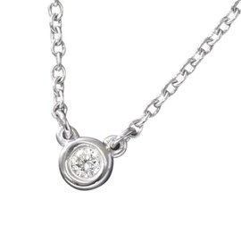 Tiffany & Co. 925 Sterling Silver By The Yard Diamond Necklace