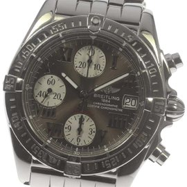 Breitling Chrono Cockpit A13358 Stainless Steel Brown Dial Automatic 39mm Mens Watch