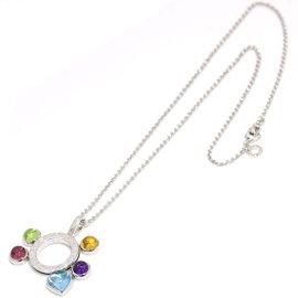Bulgari 750 18K White Gold Allegra Multi-stone Necklace
