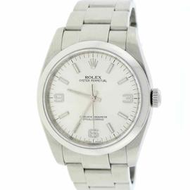 Rolex Oyster Perpetual 116000 Stainless Steel Silver Index/Arabic Dial 36mm Mens Watch