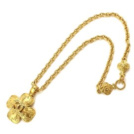 Chanel Gold Tone Metal Coco-Mark Long Necklace