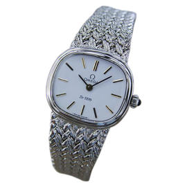 Omega DeVille Gold Plated / Stainless Steel with White Dial Vintage 26mm Womens Watch