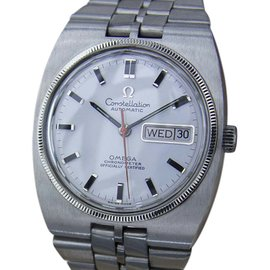 Omega Constellation MX106A Stainless Steel with Silver Dial Vintage 37mm Mens Watch