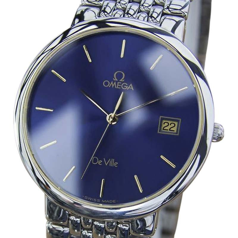 """Image of """"Omega DeVille Stainless Steel with Blue Dial 32mm Unisex Watch"""""""