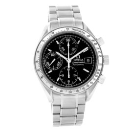 Omega Speedmaster 3513.50.00 Date Stainless Steel Automatic Black Dial 39mm Mens Watch