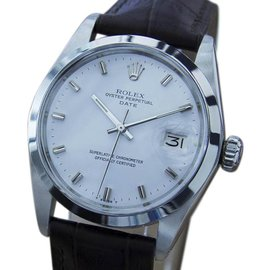 Rolex Osyter Perpetual Date 1500 Stainless Steel Vintage 35mm Mens Watch