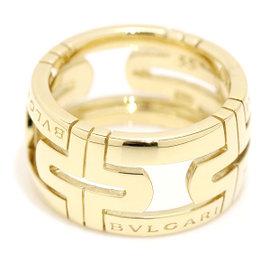 Bulgari 18K Yellow Gold Parentesi Ring Size 7.25