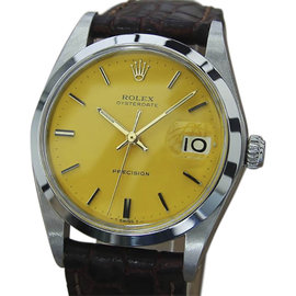 Rolex Oysterdate Precision 6694 Stainless Steel Vintage 35mm Mens Watch