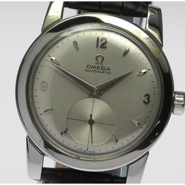 Omega Bumper Stainless Steel Automatic 35mm Mens Wrist Watch