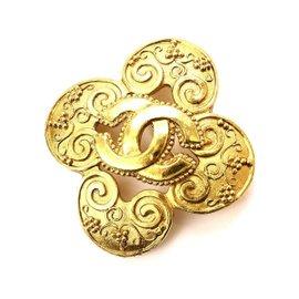 Chanel Coco-Mark 96A Gold Tone Brooch