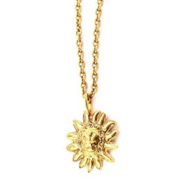 Chanel Gold Tone Metal Lion Necklace