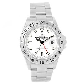 Rolex Explorer II 16570 Stainless Steel White Dial Oyster Bracelet 40mm Mens Watch