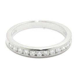 Tiffany & Co. 950 Platinum Half Round Diamond Band Ring Size 7.75~ 8