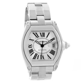 Cartier Roadster W62025V3 Stainless Steel & Silver Dial Automatic 38mm Mens Watch