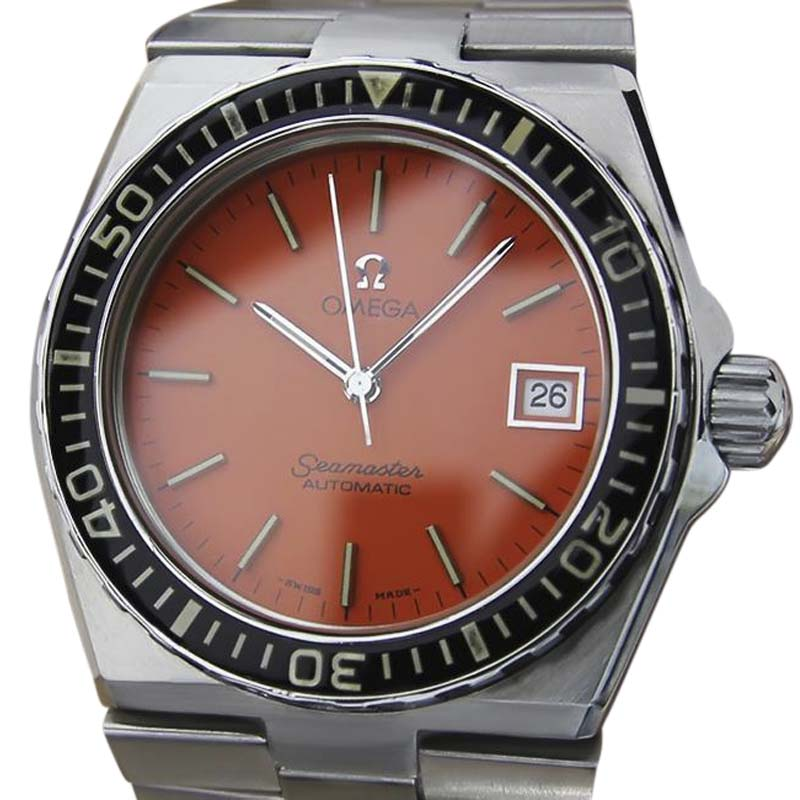 """Image of """"Omega Seamaster Stainless Steel Orange Dial Automatic 39mm Mens Watch"""""""