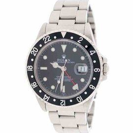 Rolex GMT-Master 16700 Stainless Steel & Black Dial Automatic 40mm Mens Watch