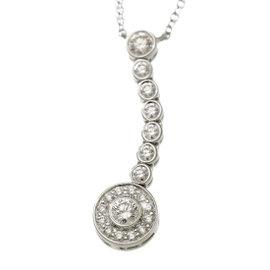 Tiffany & Co. Circlet Drop Platinum Diamond Necklace