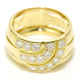 Cartier 18K Yellow Gold Diamond Ring Size 6