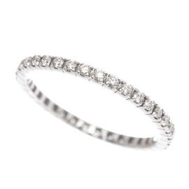 Bulgari Eternity 18K White Gold Diamond Ring Size 5.0