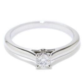 Cartier Pt950 Platinum 0.19ct. Diamond Ring Size 4.75