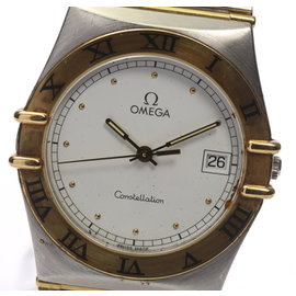 Omega Constellation Date 2 Tone Stainless Steel/18K Yellow Gold 32mm Mens Wrist Watch
