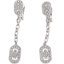 Bulgari Parentesi 18K White Gold Diamond Earrings