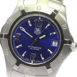 Tag Heuer Professional WN1112 Stainless Steel Quartz 38mm Mens Diving Watch