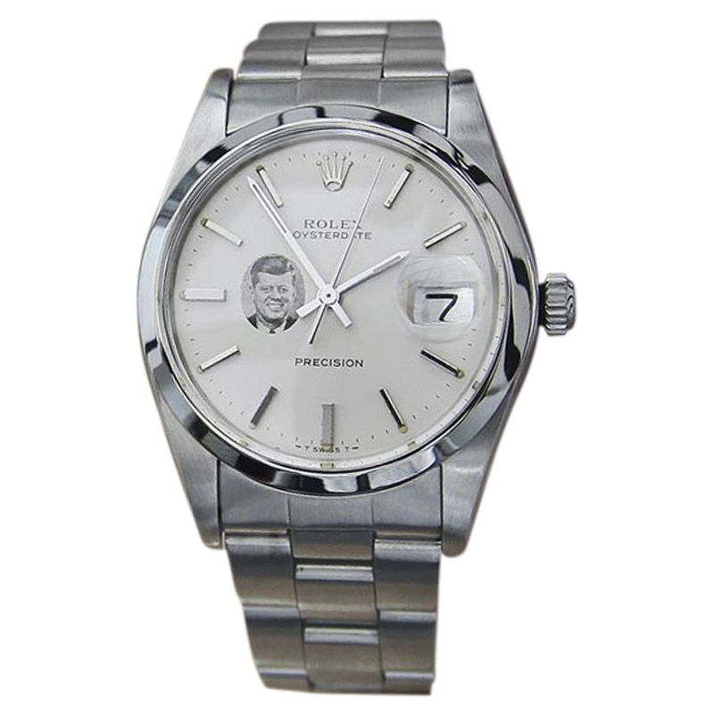 "Image of ""Rolex Oysterdate 6694 Stainless Steel Vintage 35mm Mens Watch"""