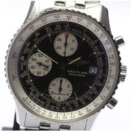 Breitling Navitimer A13022 Stainless Steel Black Dial Automatic 41mm Men's Watch
