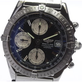 Breitling Chronomat A13352 Stainless Steel Black Dial Automatic 40mm Men's Watch