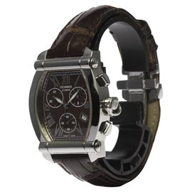 Charriol 060T2 Stainless Steel & Leather Brown Dial Quartz 35mm Men's Watch