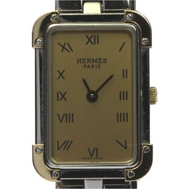 Hermes Croazole CR1.220 Stainless Steel/Gold Plated Quartz 19mm Womens Watch