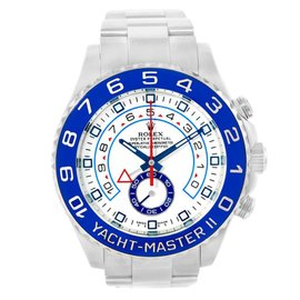 Rolex Yachtmaster II 116680 Stainless Steel & White Dial 44mm Mens Watch