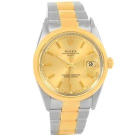 Rolex Date 15003 Stainless Steel & 18K Yellow Gold 35mm Mens Watch