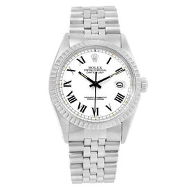 Rolex Datejust 1603 White Buckley Dial Stainless Steel 36mm Mens Watch