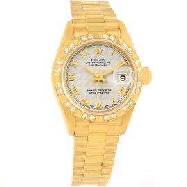 Rolex President Datejust 69258 18K Yellow Gold Diamond 26mm Womens Watch