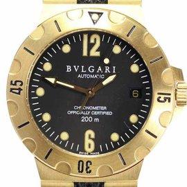 Bulgari Diagono SD38G Automatic 18K Yellow Gold 35mm Mens Wrist Watch