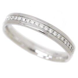 Tiffany & Co. 18K Whie Gold Diamond Ring