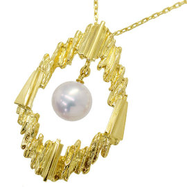 Mikimoto 18K Yellow Gold Akoya Pearl Necklace