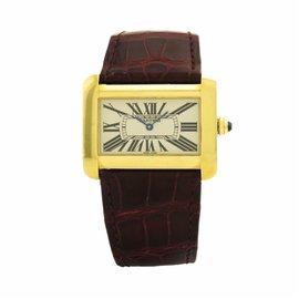 Cartier Tank Divan 2602 18K Yellow Gold Quartz 38mm Womens Watch