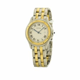 Cartier Cougar 187904 Stainless Steel & Yellow Gold 33mm Womens Watch