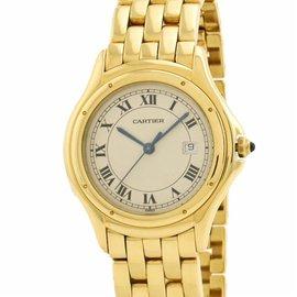 Cartier Cougar 887904 18K Yellow Gold Quartz 33mm Womens Watch