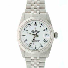Rolex Datejust 68240 Stainless Steel & White Roman Dial 31mm Unisex Watch